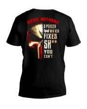 diesel mechanic fixes V-Neck T-Shirt thumbnail
