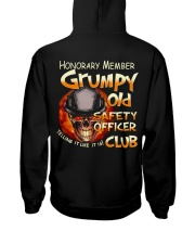 safety officer Hooded Sweatshirt back