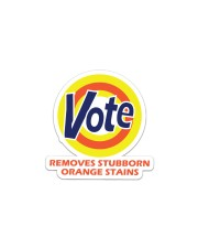 REMOVES STOBBORN ORANGE STAINS Sticker - Single (Horizontal) thumbnail