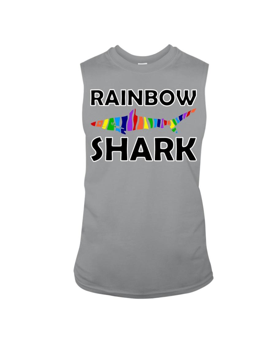 Rainbow Shark Sleeveless Tee