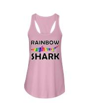 Rainbow Shark Ladies Flowy Tank thumbnail