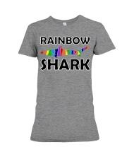 Rainbow Shark Premium Fit Ladies Tee thumbnail