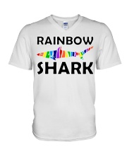 Rainbow Shark V-Neck T-Shirt thumbnail