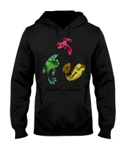 Colors Trio Fish Hooded Sweatshirt front