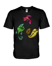 Colors Trio Fish V-Neck T-Shirt tile