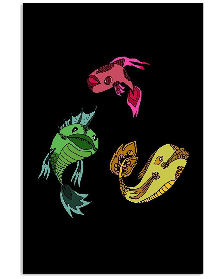 Colors Trio Fish 16x24 Poster showcase