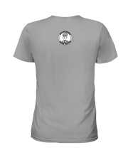 Blue Fish Bones Ladies T-Shirt back