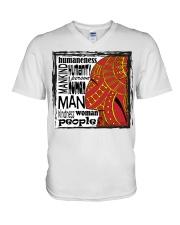 Human V-Neck T-Shirt thumbnail
