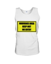 Marriage Area Unisex Tank front