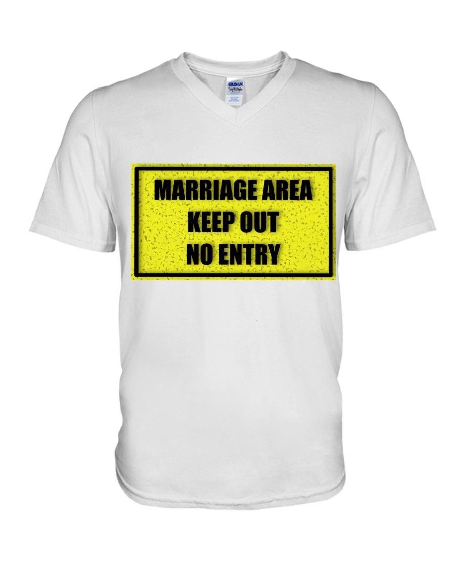 Marriage Area V-Neck T-Shirt showcase