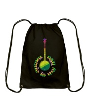 Guitar Music Life Drawstring Bag thumbnail
