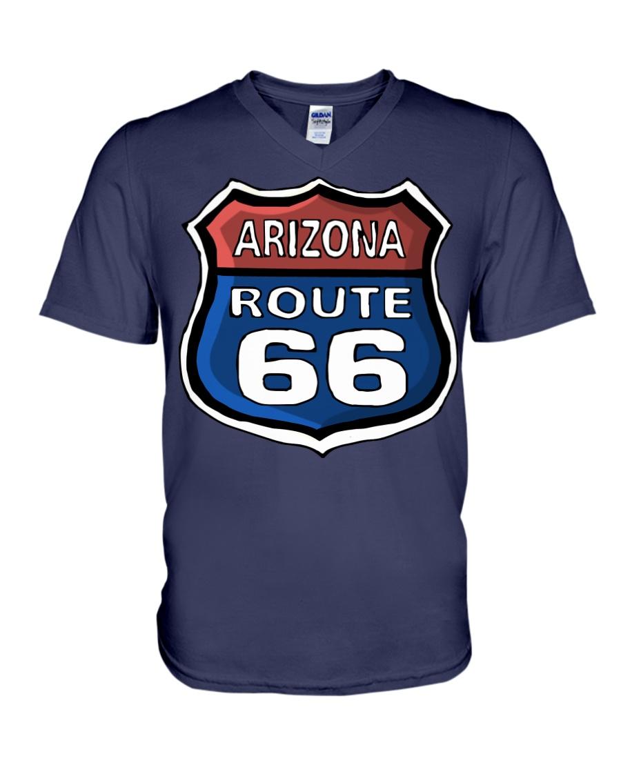 Route 66 Arizona V-Neck T-Shirt showcase