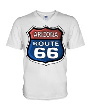 Route 66 Arizona V-Neck T-Shirt thumbnail