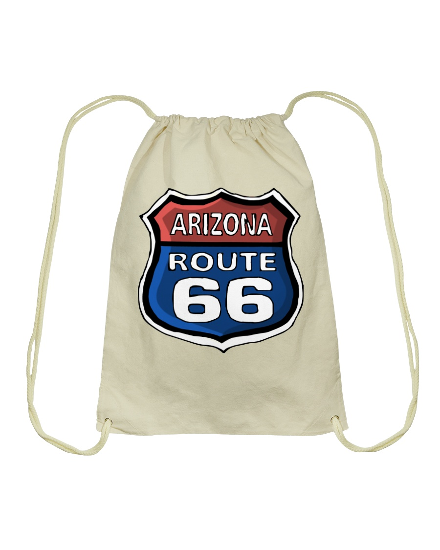 Route 66 Arizona Drawstring Bag