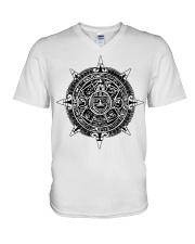 Aztecs Calendar V-Neck T-Shirt thumbnail