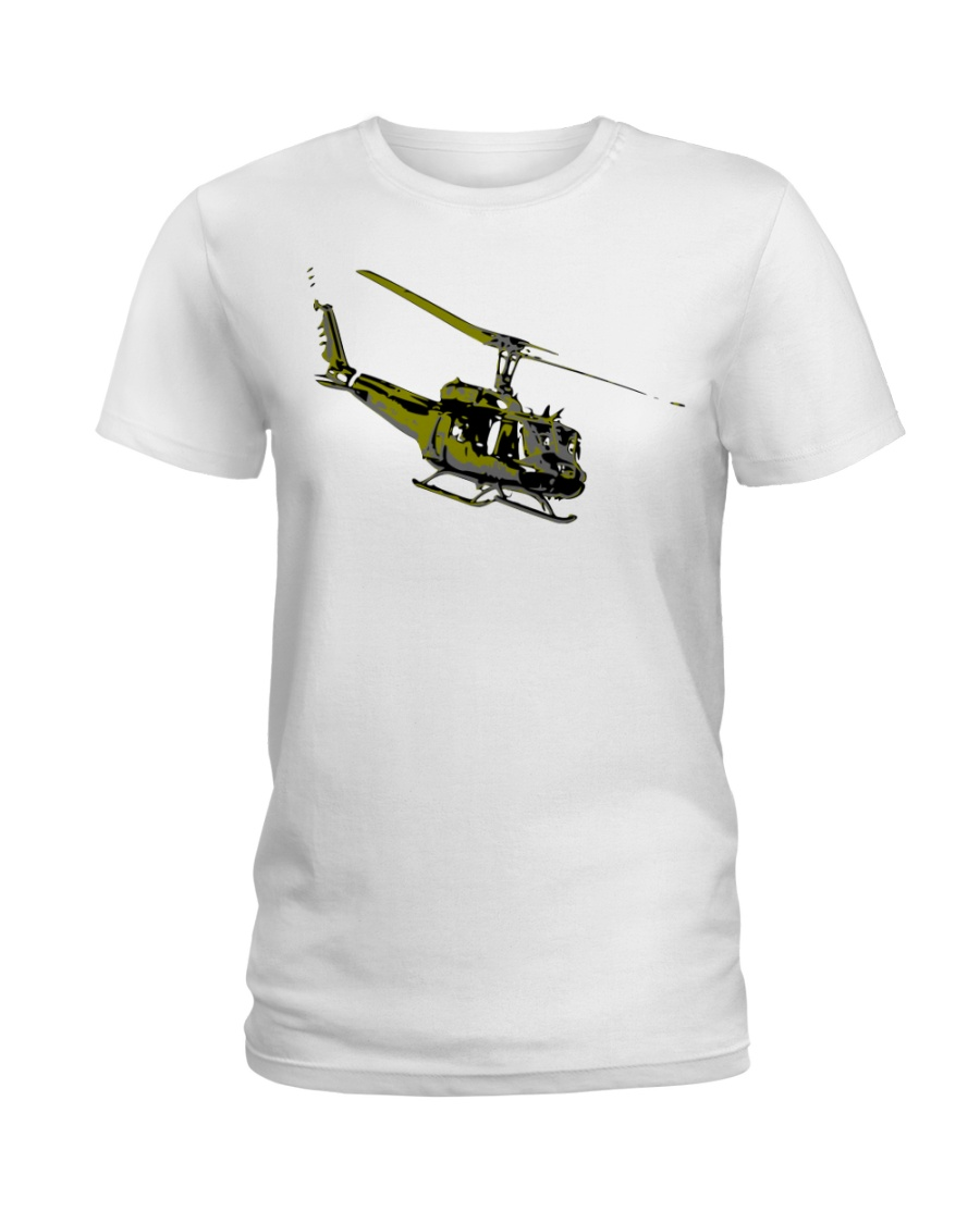 Huey Helicopter Ladies T-Shirt
