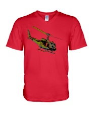 Huey Helicopter V-Neck T-Shirt thumbnail