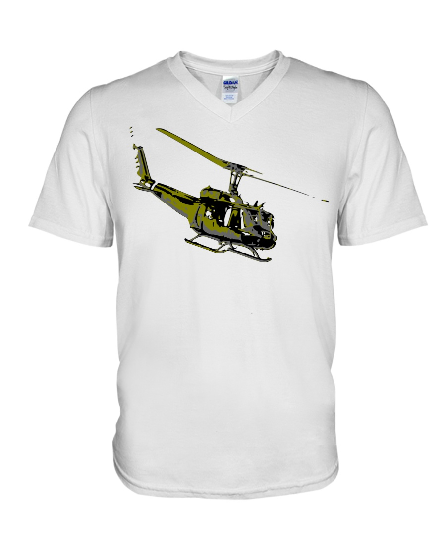 Huey Helicopter V-Neck T-Shirt