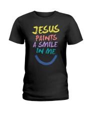 Jesus paints a smile in me Ladies T-Shirt thumbnail
