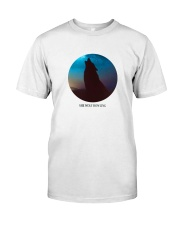 She wolf howling Premium Fit Mens Tee tile
