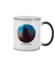 She wolf howling Color Changing Mug tile