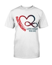 Electrician Love What You Do Classic T-Shirt thumbnail