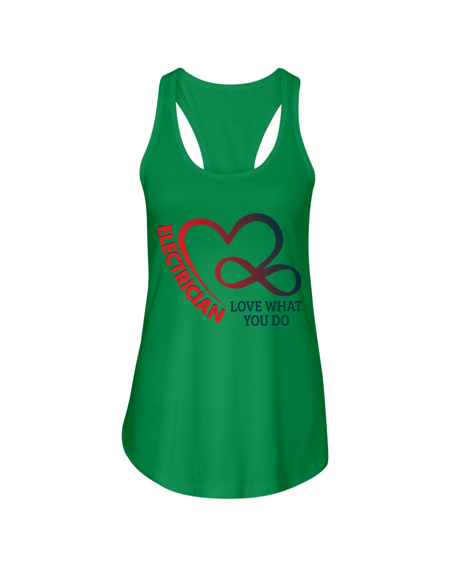 Electrician Love What You Do Ladies Flowy Tank