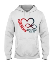 Electrician Love What You Do Hooded Sweatshirt thumbnail