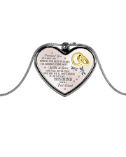 I Promised You Metallic Heart Necklace front