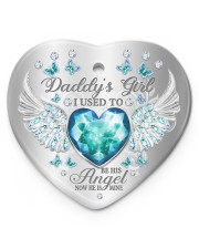 Daddys Girl Heart ornament - single (porcelain) front
