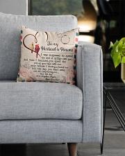 I'm Not A Widow I'm A Wife To A Husband With Wings Square Pillowcase aos-pillow-square-front-lifestyle-05