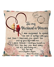 I'm Not A Widow I'm A Wife To A Husband With Wings Square Pillowcase back