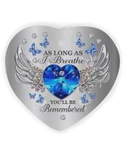 As Long As I Breathe Heart ornament - single (wood) thumbnail