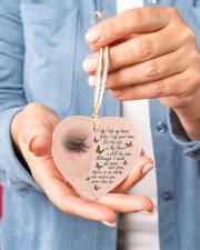 I Hide My Tears Heart ornament - single (porcelain) aos-heart-ornament-single-porcelain-lifestyles-01