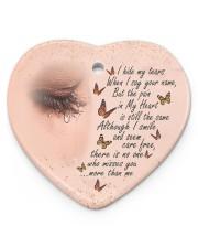 I Hide My Tears Heart ornament - single (porcelain) front