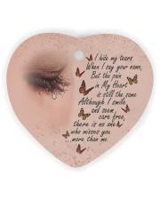 I Hide My Tears Heart Ornament (Wood) tile