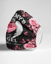 Mommy's Girl I Used To Be His Angel Now She's Mine Cloth face mask aos-face-mask-lifestyle-21