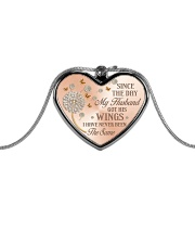 Since The Day Metallic Heart Necklace front