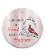 A Big Piece Of My Heart Circle ornament - single (porcelain) front