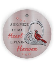 A Big Piece Of My Heart Circle Ornament (Wood tile