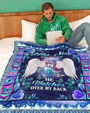 "My Son Large Fleece Blanket - 60"" x 80"" aos-coral-fleece-blanket-60x80-lifestyle-front-06"