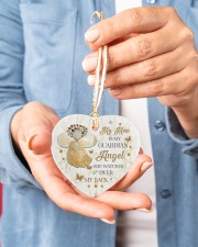 My Mom Is My Guardian Angel Heart ornament - single (porcelain) aos-heart-ornament-single-porcelain-lifestyles-01