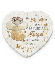 My Mom Is My Guardian Angel Heart ornament - single (porcelain) front