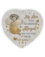 My Mom Is My Guardian Angel Heart Ornament (Wood) tile