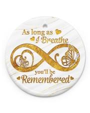 As Long As I Breathe Circle ornament - single (porcelain) front
