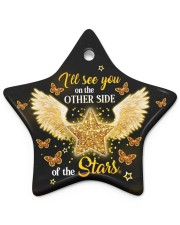 Ill See You On The Other Side Star ornament - single (porcelain) front