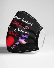 My Heart Broke Cloth face mask aos-face-mask-lifestyle-21