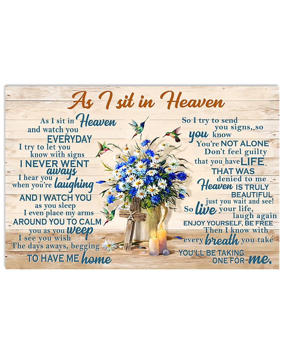 As I Sit In Heaven 17x11 Poster