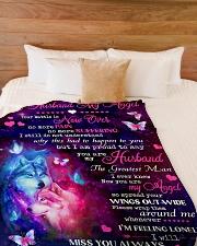 """My Husband Large Fleece Blanket - 60"""" x 80"""" aos-coral-fleece-blanket-60x80-lifestyle-front-02"""