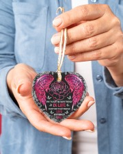 You Taught Me Many Things Heart ornament - single (porcelain) aos-heart-ornament-single-porcelain-lifestyles-01